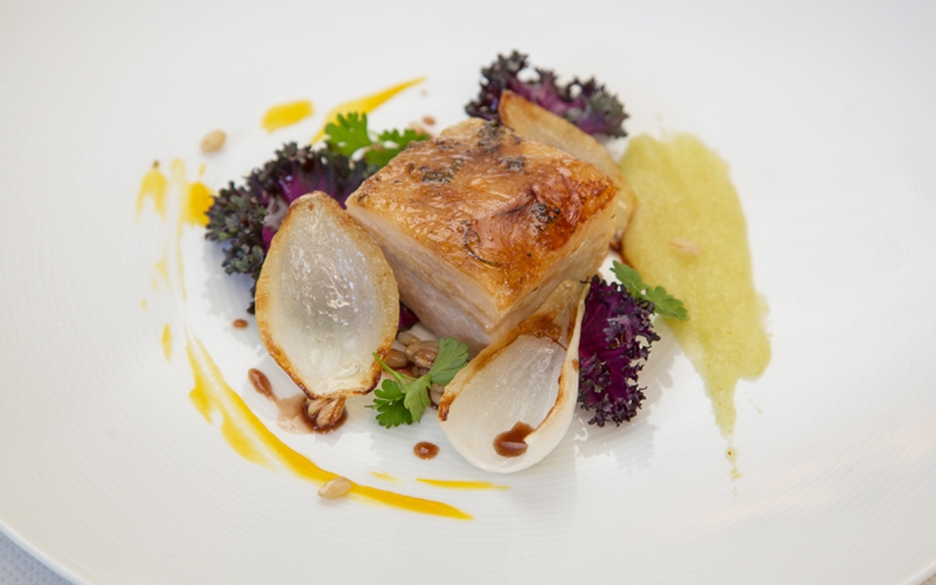 Kurobuta Pork Belly by Executive Chef Fabrice Hardel of The Westgate Hotel San Diego