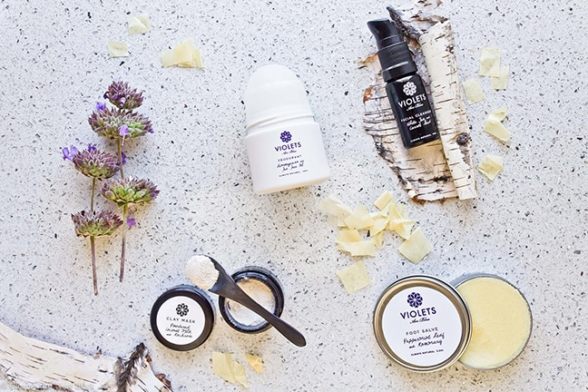Violets Are Blue Signature Line skin care