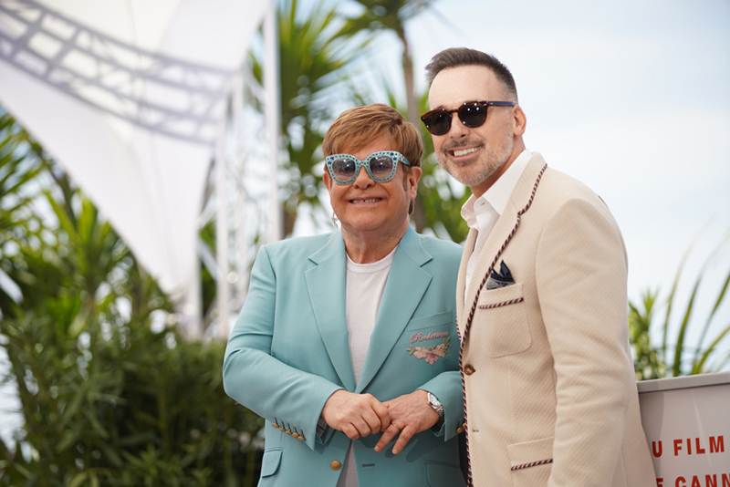 Elton John and David Furnish attend the 72nd Annual Cannes Film Festival in Cannes France on May 2019