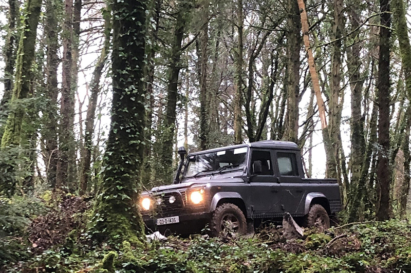 Off-roading at Ashford Castle for Father's Day