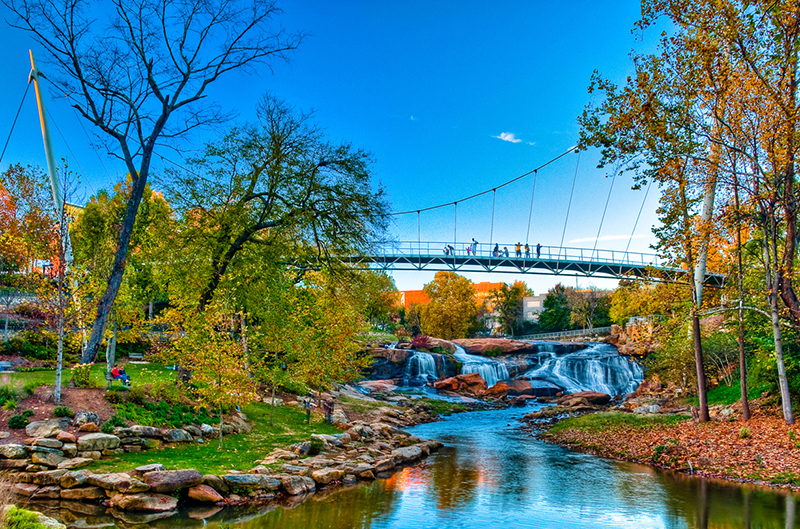 Falls Park on the Reedy - Photo Credit VisitGreenvilleSC and Craig A Lee