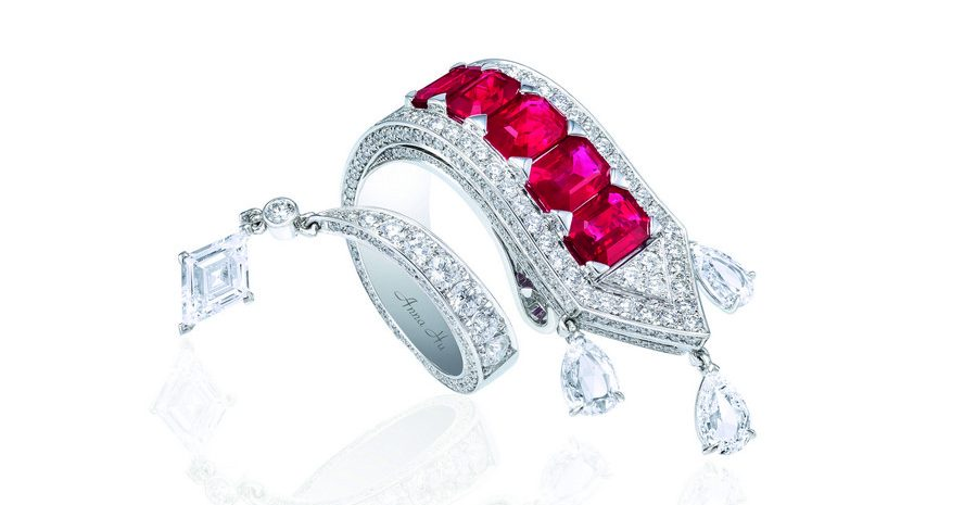 Anna Hu appasionata Ring in Ruby. Selling at Sothebys