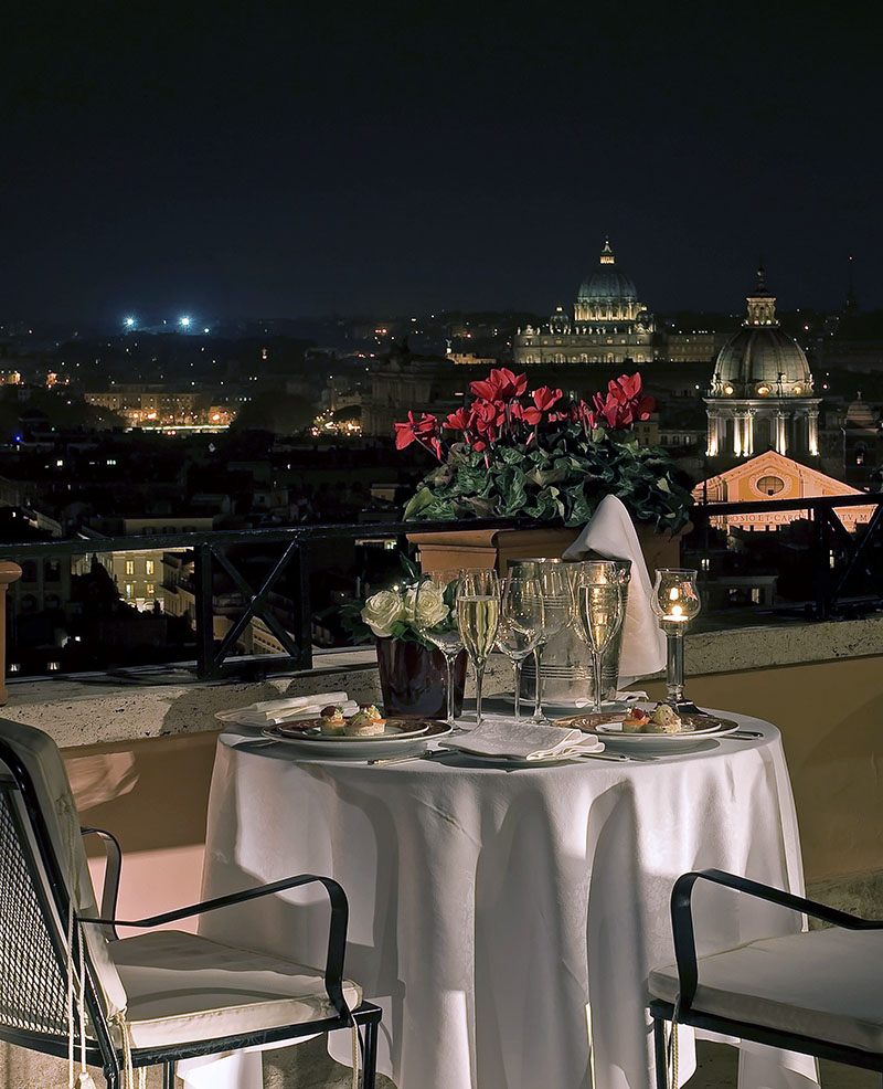 Hotel Hassler. Photo courtesy of Hotel Hassler Rome