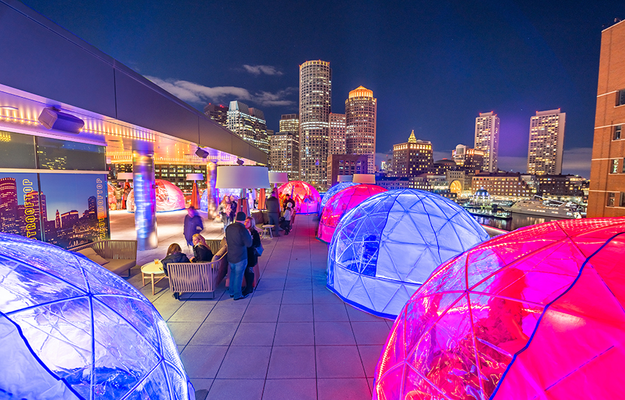 Envoy Hotel Igloo on Rooftop Bar