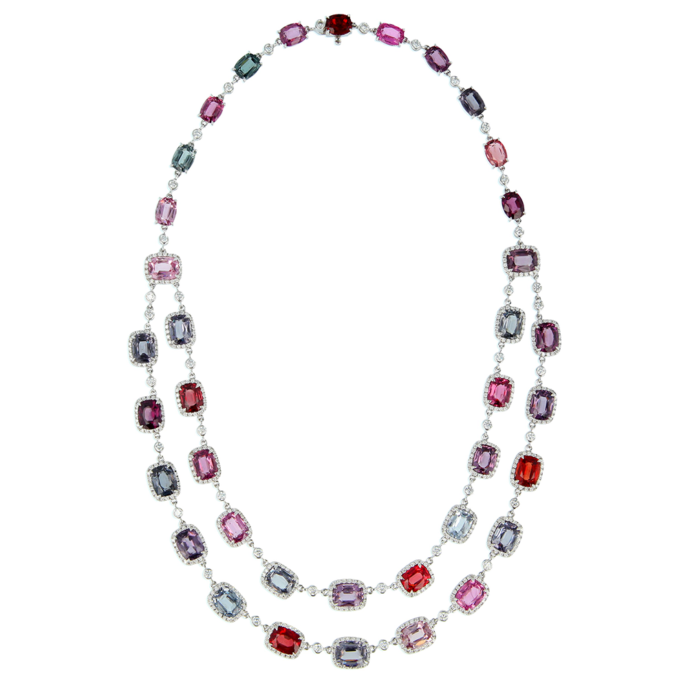 Spinel and Diamond Necklace