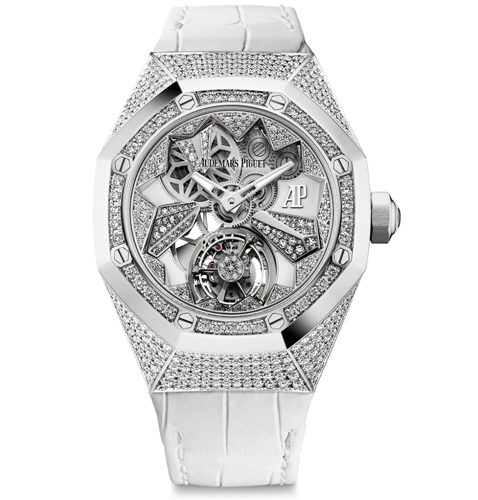 AP Royal Oak ladies diamond set timepiece, an iconic watch