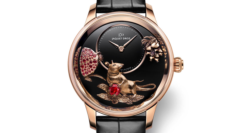 Jaquet DrozPetite Heure Minute Relief Rat timepiece celebrates the Year of the Rat