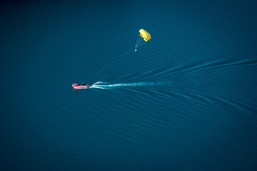 parasailing is a great water sport