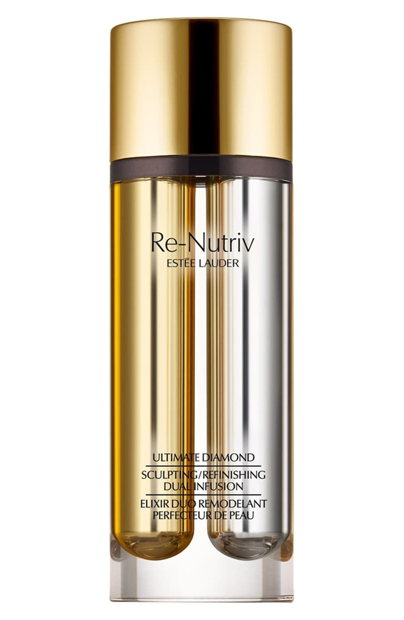 Estee Lauder Re-Nutriv Ultimate Diamond Sculpting Refinishing Dual Infusion Serum, luxury skincare product