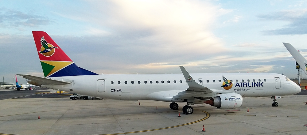 Airlink airline heading to Sky Lodge