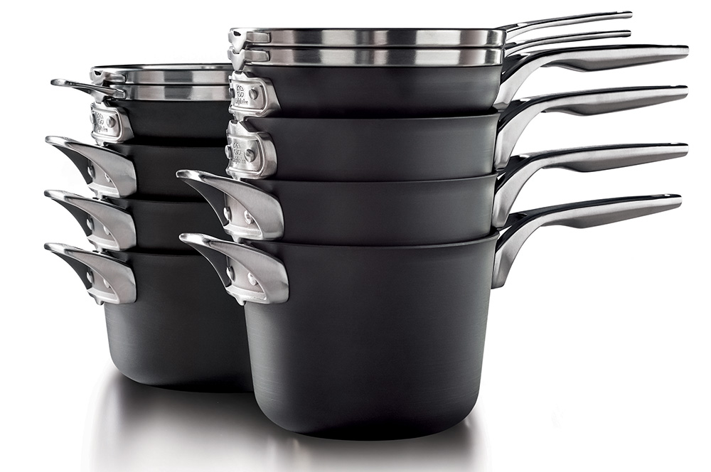 Calphalon Premier™ Space Saving Hard Anodized Nonstick 10-Piece Cookware Set, the perfect Mother's Day Gift
