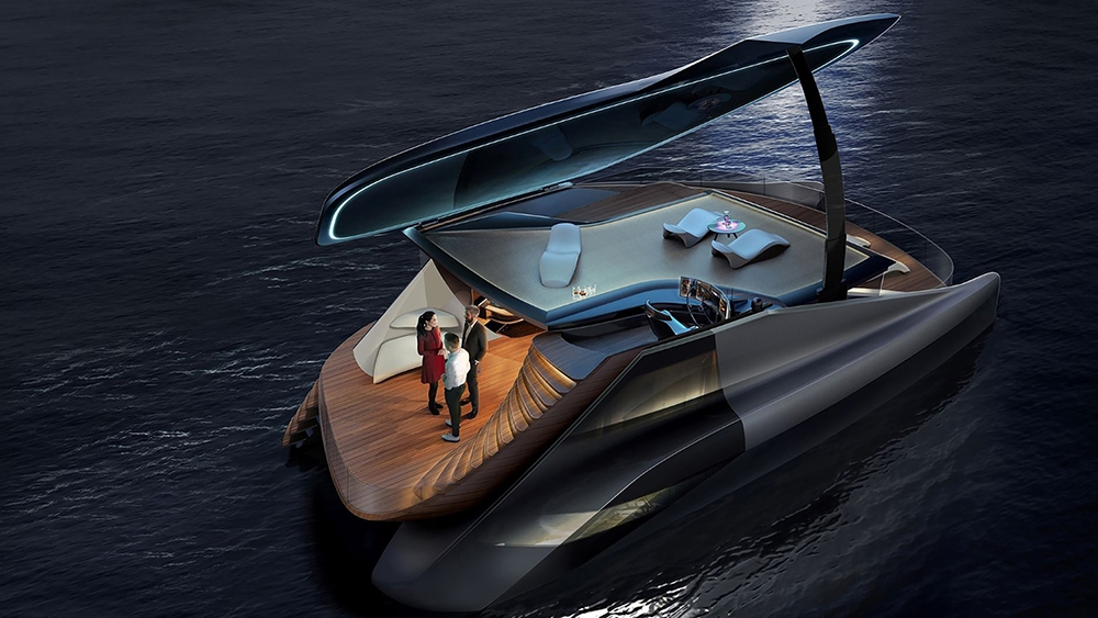 Icona debuts an electric and asymmetrical Fibonacci catamaran design