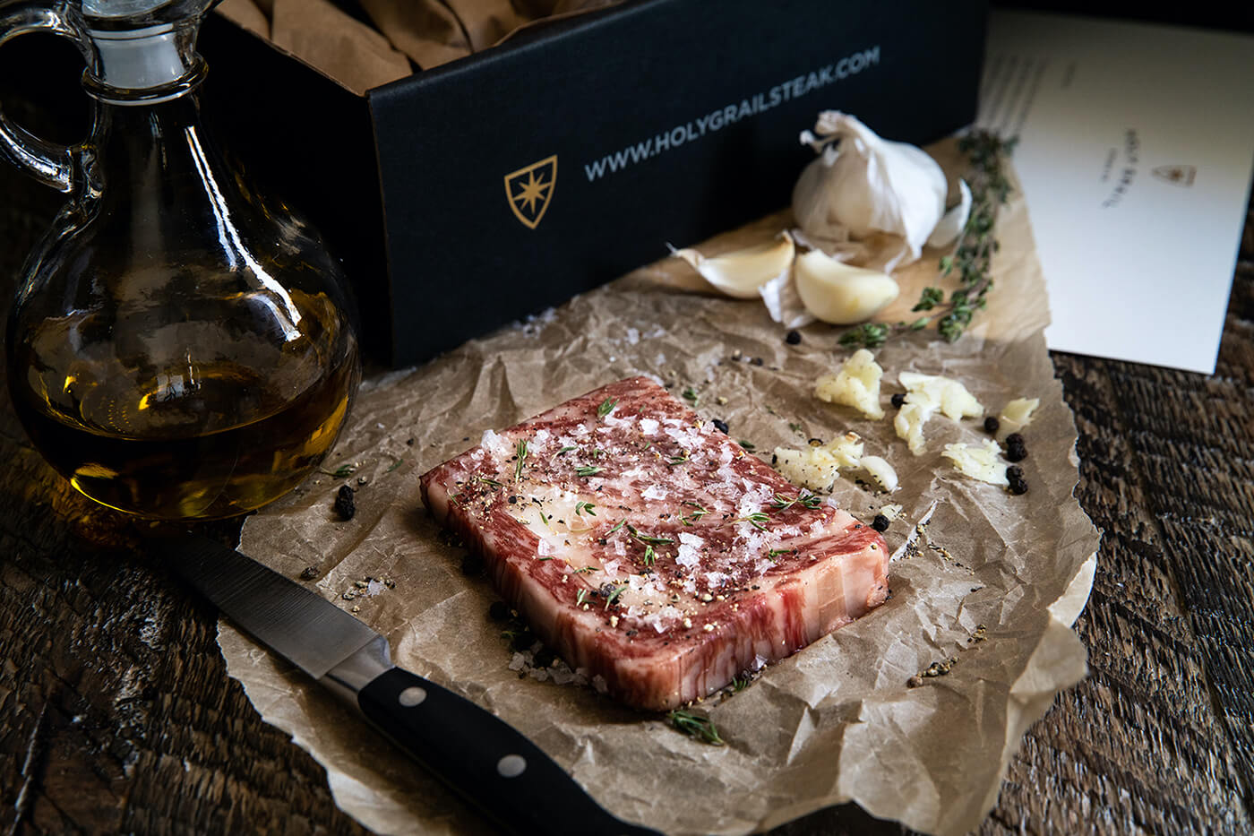 Holy Grail Steak Co gift box