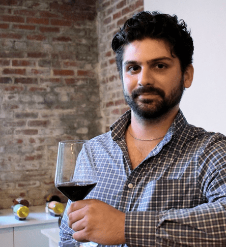 Independent Wine Consultant Demetri Chrissos gave us great insight into hosting a virtual wine tasting. — photo credit: Becky Leigh Thompson — image courtesy of Demetri Chrissos