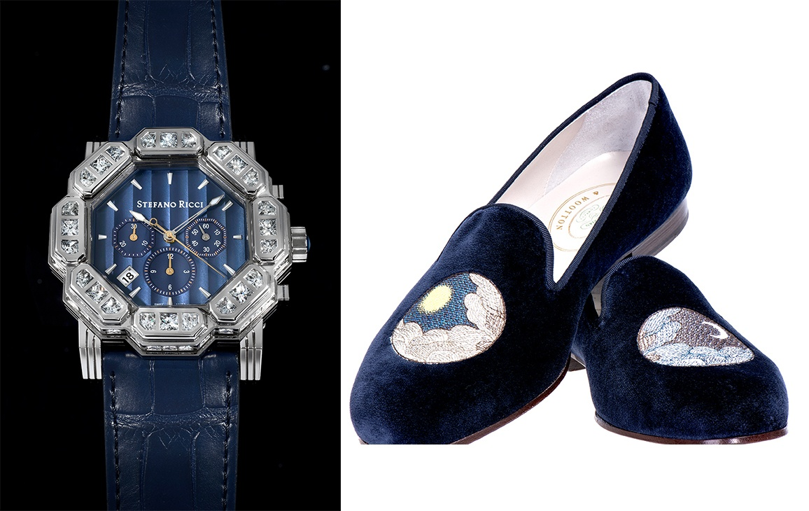 Stefano Ricci Octagon watch and John Derian for Stubbs and Wootoon sleepers