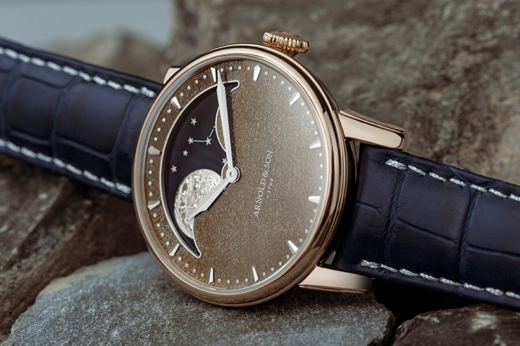Arnold & Son Perpetual Moon Obsidian watch, perfect Valentine's Day gift