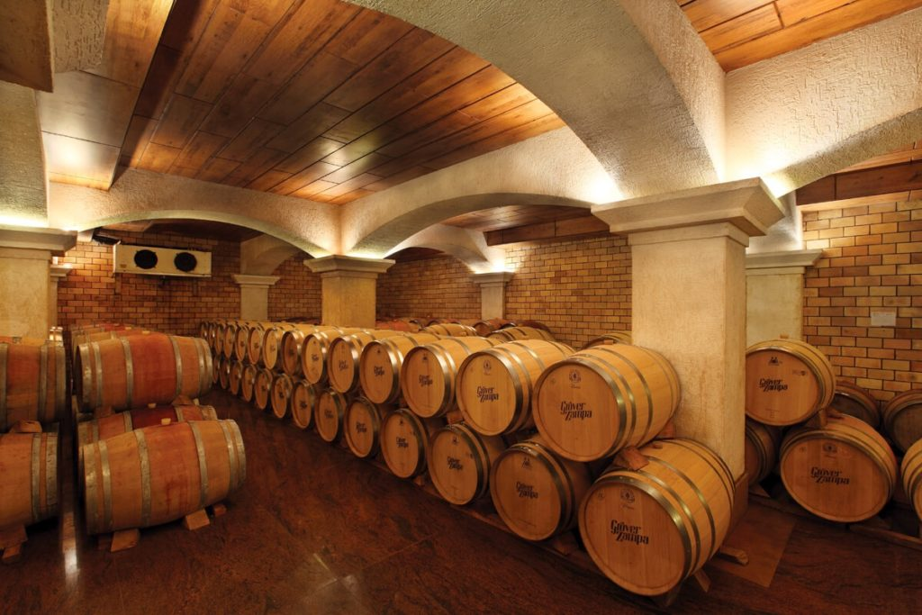 Grover Zampa Vineyards wine storage
