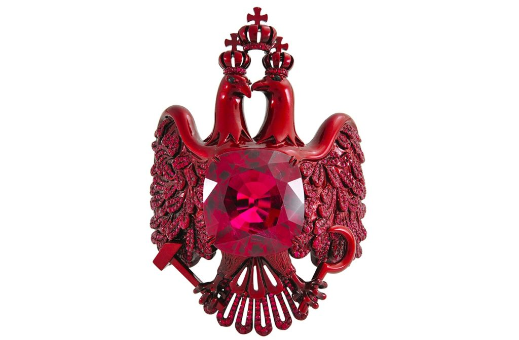 Scarlett Empress Ruby Cuff Bracelet by Lydia Courteille