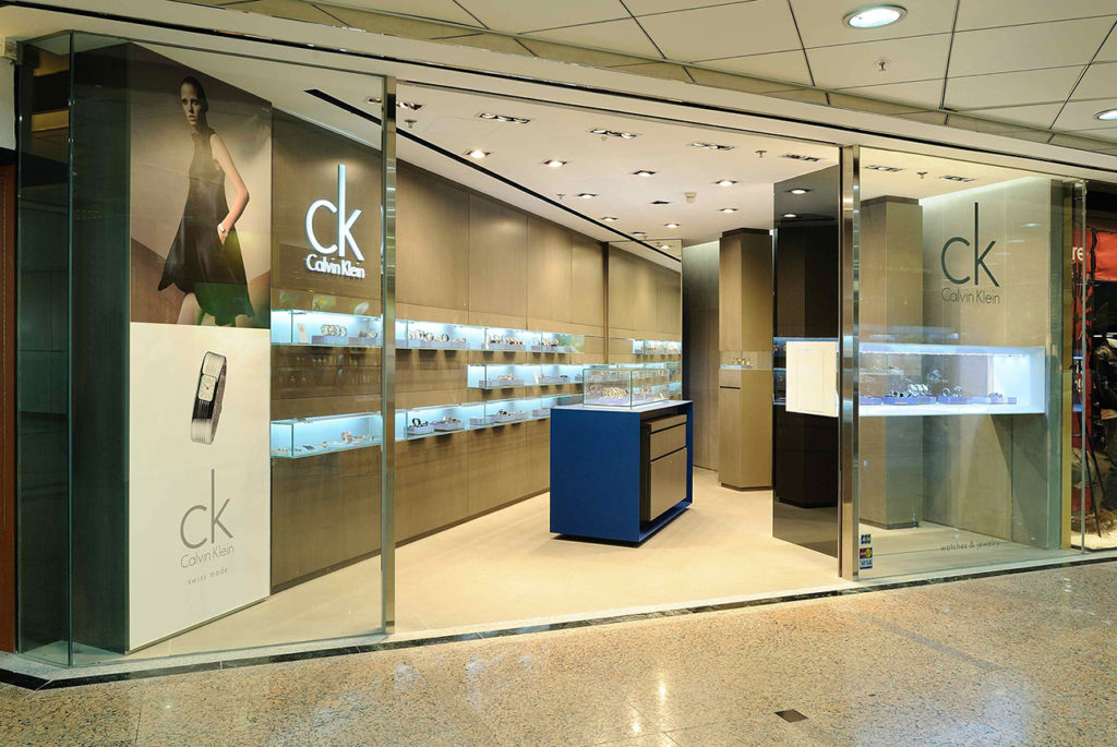 CK Watches & Jewelry store in Tawaian designed by Cipriani Gaon Associati