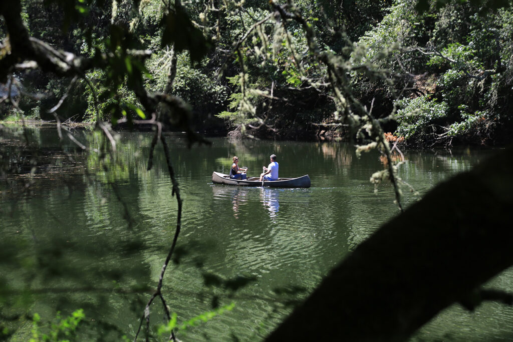 Canoeing at NewTree Ranch in Sonoma County CA