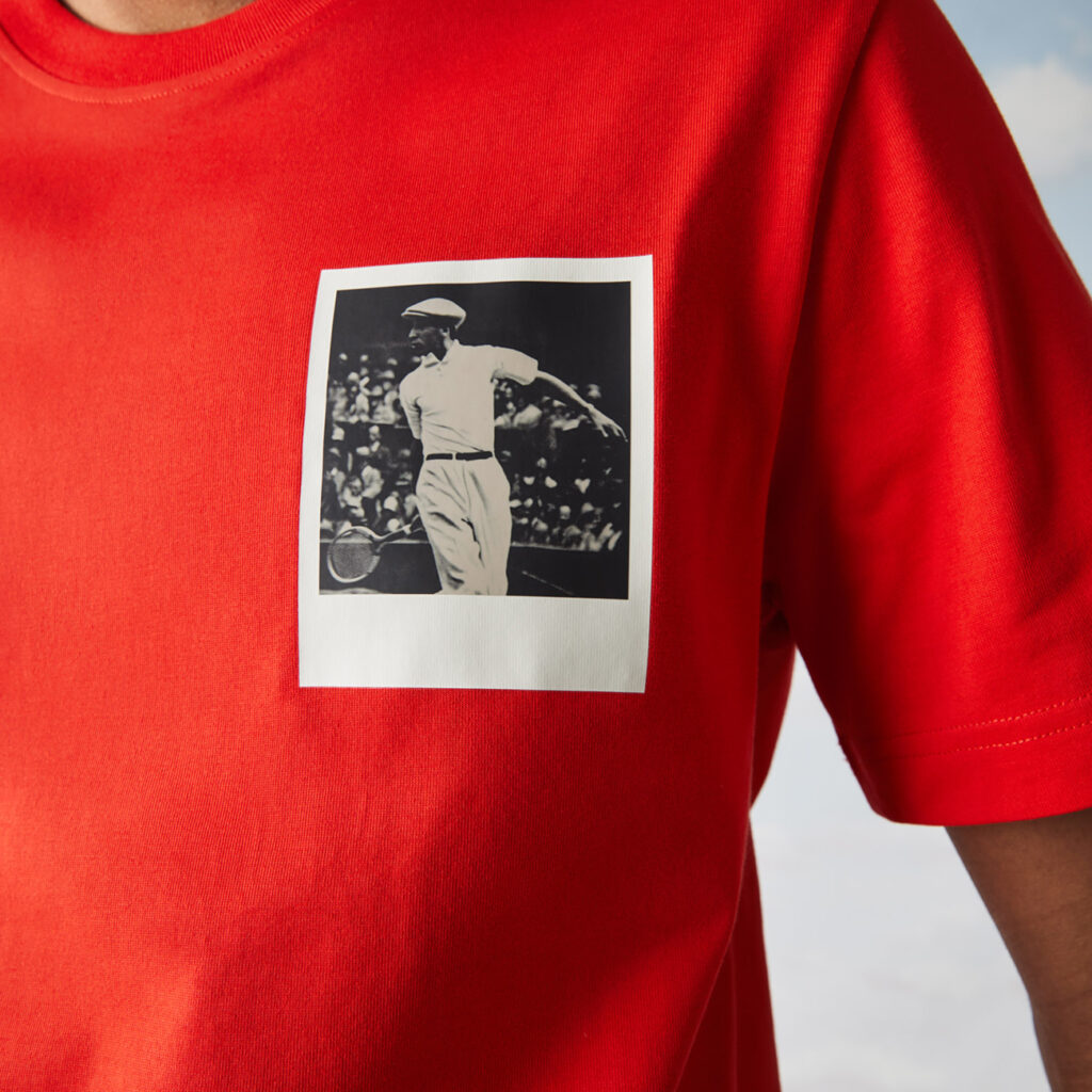 Lacoste X Polaroid Collection red top