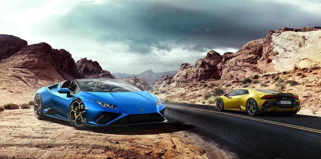 For open air driving fun and freedom, the Huracán EVO RWD Spyder is a sports car hero