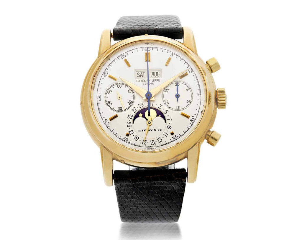 Patek Philippe Fourth Series Ref. 2499 signed by Tiffany