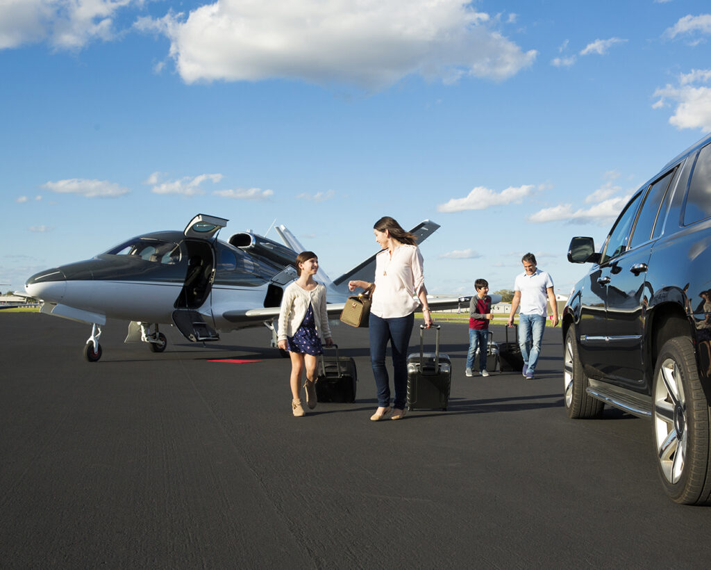 Family arrives in the Cirrus G2 Vision Jet